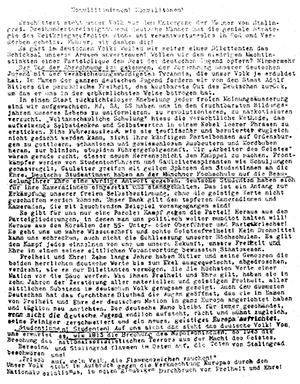 6. Flugblatt der Weißen Rose, Faksimile
