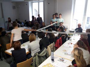 """""""Spurensuche"""" bei der Lehrerfortbildung """"Schultheater und Geschichtsvermittlung"""", Oktober 2016"""