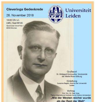 Erste Cleveringa Gedenkrede an der LMU in München