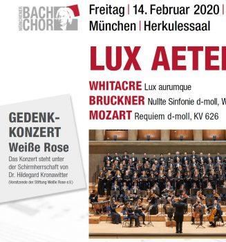 Lux Aeterna – Gedenkkonzert Weiße Rose des Münchener Bach-Chors