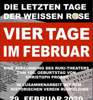 """""""Vier Tage im Februar"""" – Die letzten Tage der Weißen Rose"""
