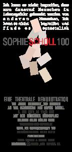 #SophieScholl100 - Theatrale Demonstration. Königsplatz München / live stream online